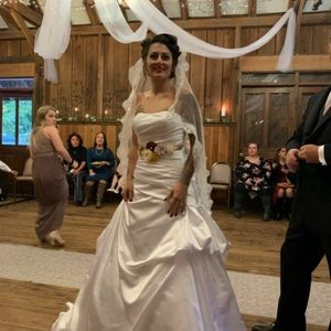 Wedding dress and accessories and veil